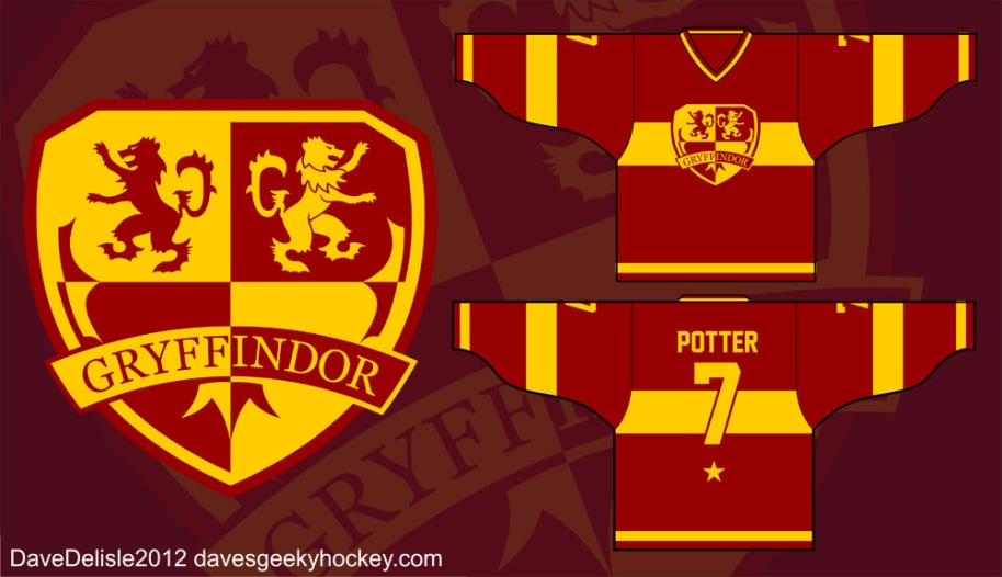 Hary Potter Gryffindor 2012 davesgeekyideas.com davesgeekyhockey.com