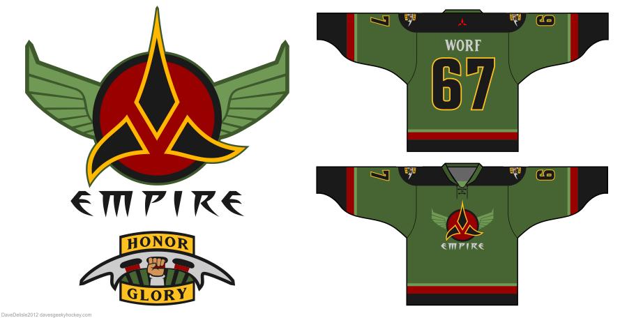 Klingon hockey jersey by Dave Delisle