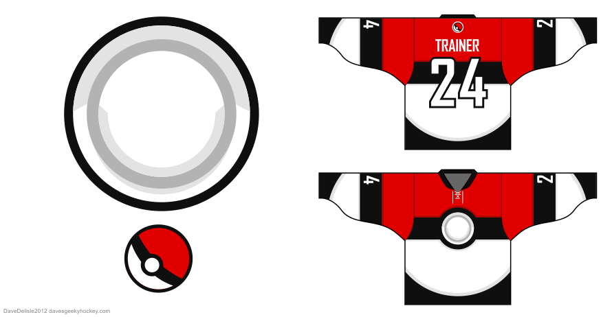 Pokemon Trainers hockey jersey design by Dave Delisle