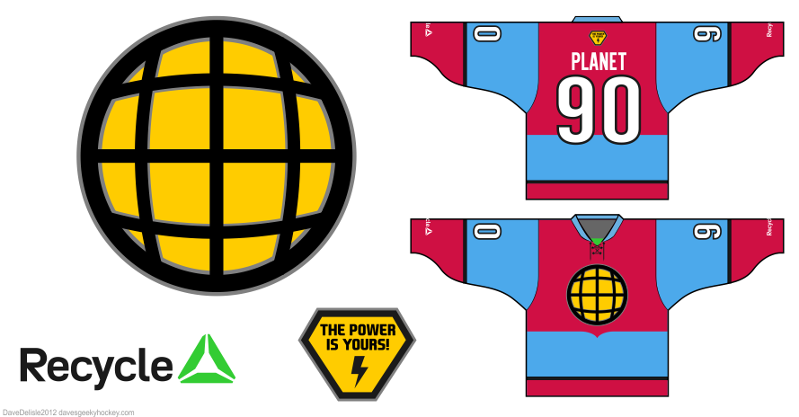 captain planet hockey jersey by Dave Delisle