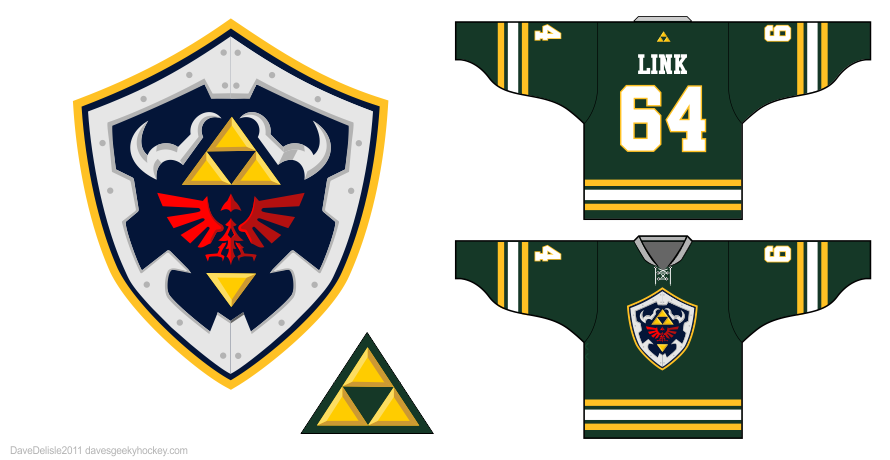 Link 1.0 hockey jersey design by Dave Delisle