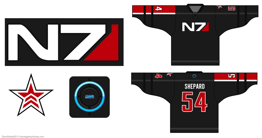 Mass Effect Hockey Jersey by Dave Delisle