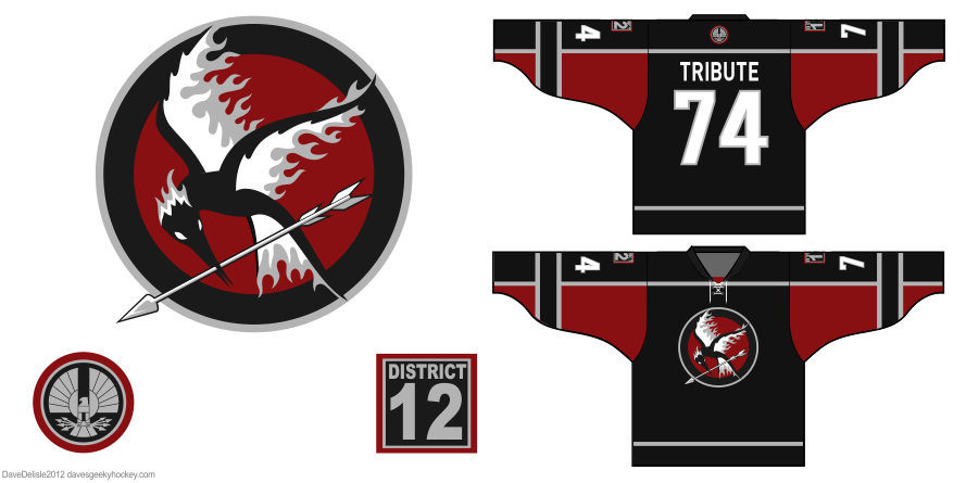 Hunger Games hockey jersey by Dave Delisle