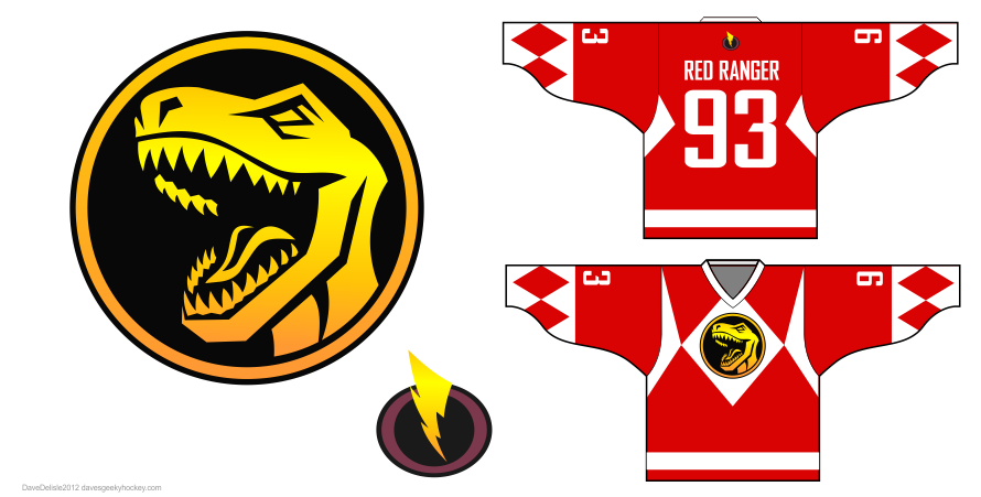 Power Rangers Hockey Jersey Design Dave S Geeky Hockey