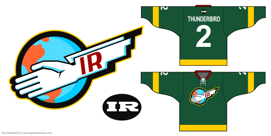 Thunderbirds hockey jersey by Dave Delisle