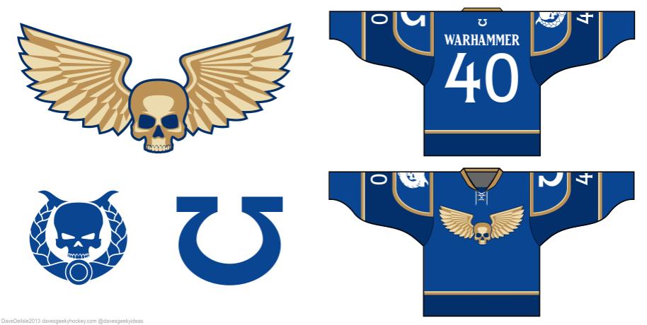 Warhammer 40K hockey jersey design by davesgeekyideas