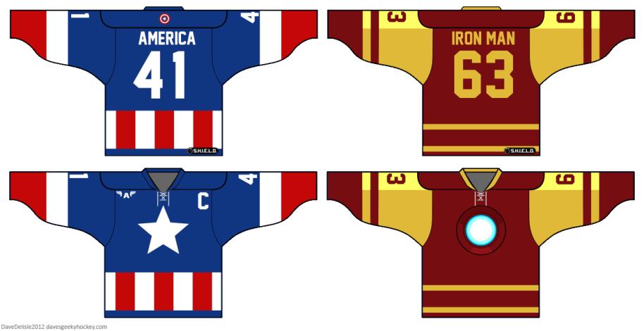 Captain America Shellhead Hockey Jerseys 2012 Dave Delisle davesgeekyhockey.com