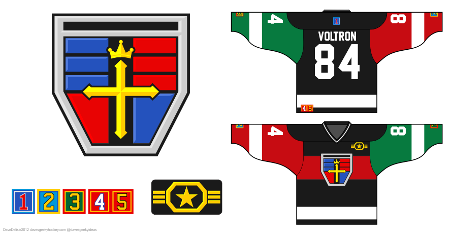 Voltron Hockey Jersey by Dave Delisle