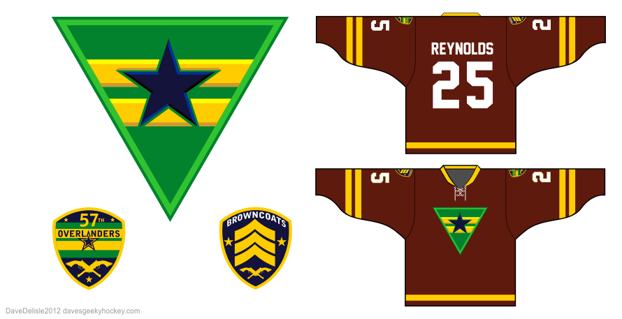 Browncoats 2.0 hockey jersey design by Dave Delisle