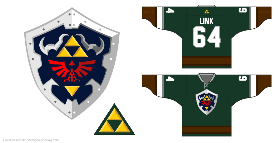 Link 2.0 hockey jersey design by Dave Delisle