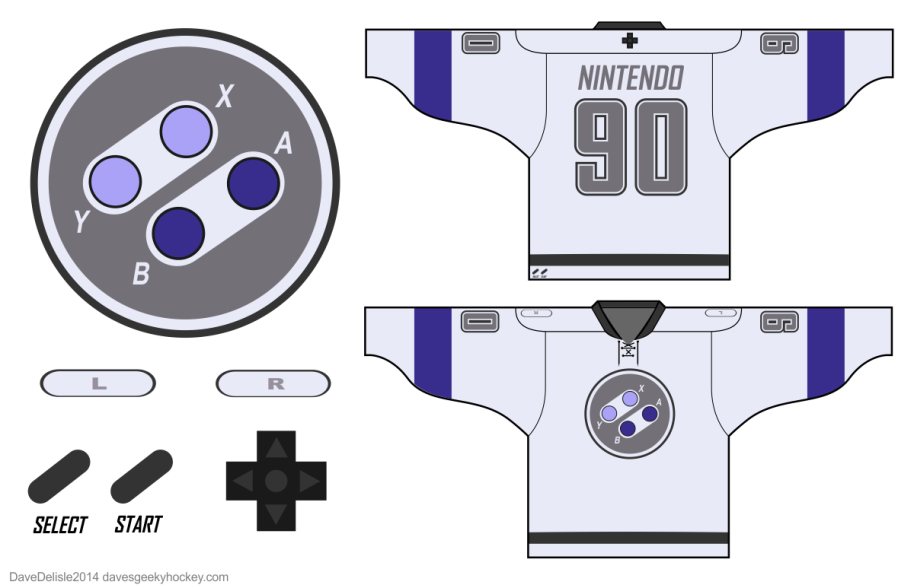 SNES Hockey Jersey Design