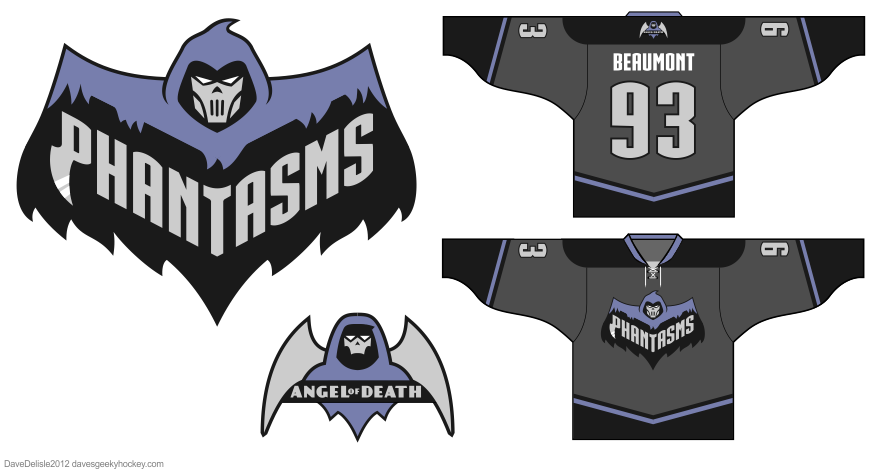 Batman Phantasm hockey jersey by Dave Delisle