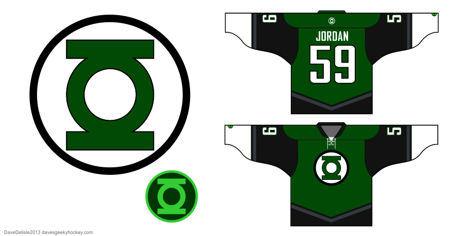 green lantern hockey jersey by Dave Delisle