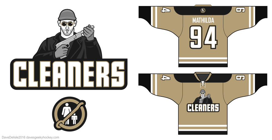 Leon the professional hockey jersey design by Dave Delisle