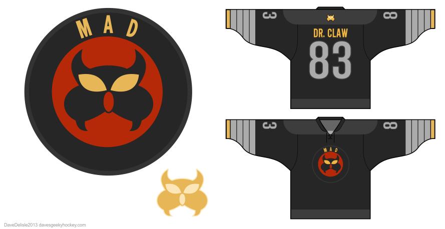 mad-dr-claw-logo-hockey-jersey-design-2013-dave-delisle-davesgeekyhockey