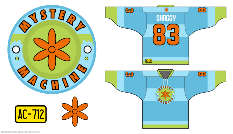 Scooby-Doo Mystery Machine Hockey Jersey 2012
