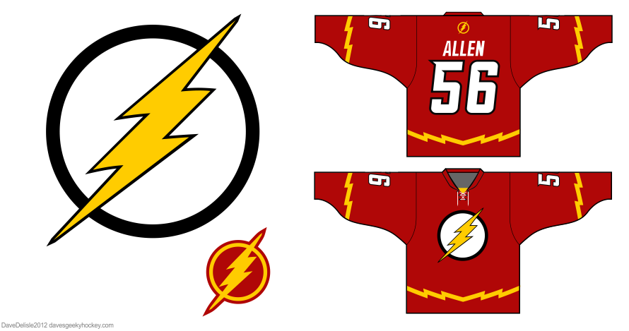 Flash hockey jersey by Dave Delisle