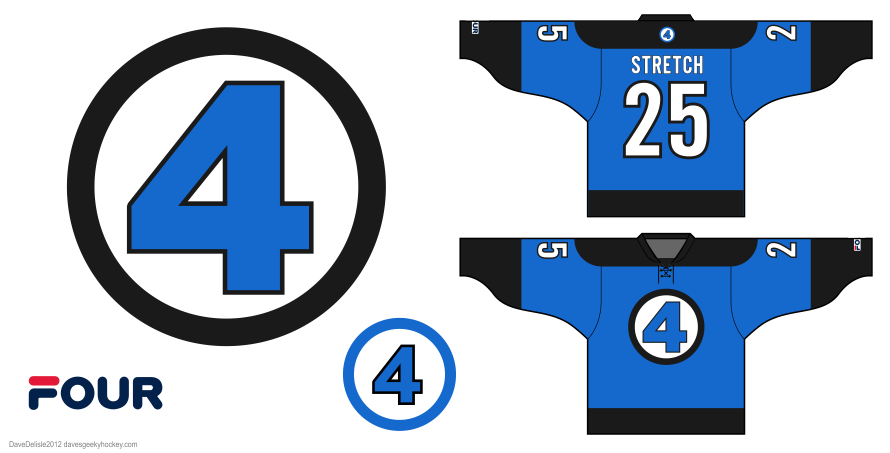 Fantastic Four hockey jersey by Dave Delisle
