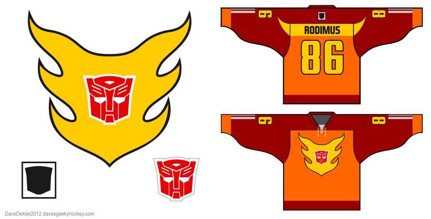 Hot Rod hockey jersey design by Dave Delisle