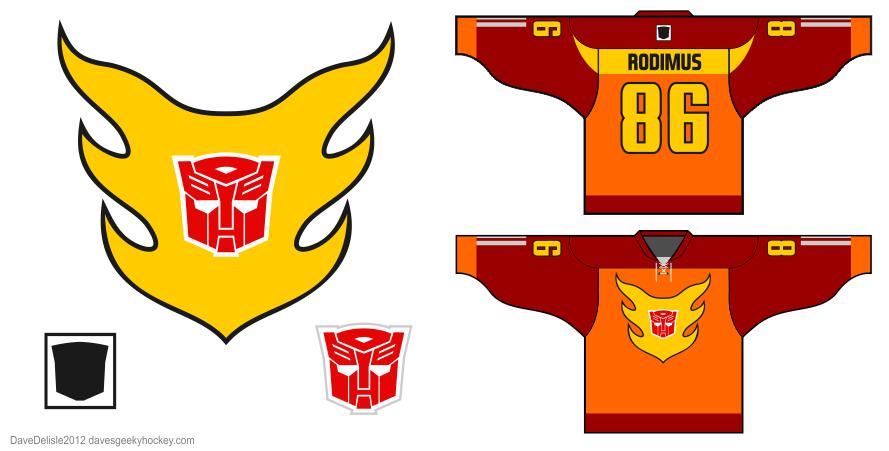 Hot Rod hockey jersey design by Dave Delisle