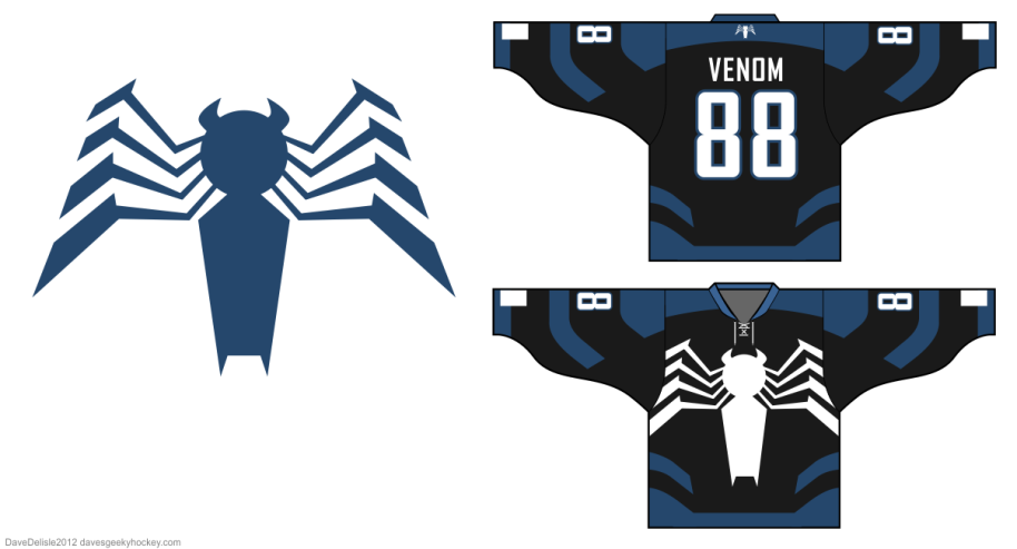 Spider-Man hockey jersey davesgeekyhockey