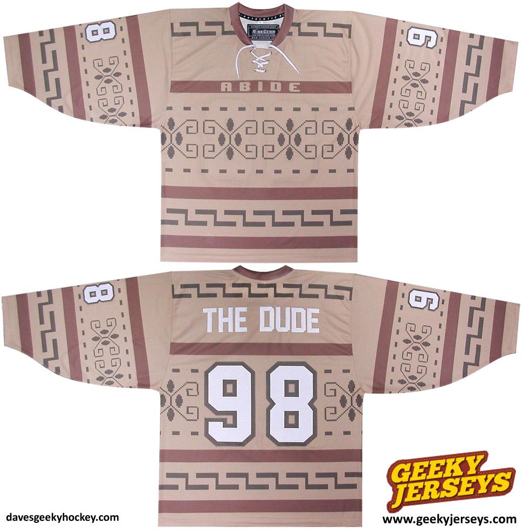 originaldave77Big-Lebowski-Sweater-Hockey-Jersey-2012-geeky-jerseys -davesgeekyhockey 570c49c91af