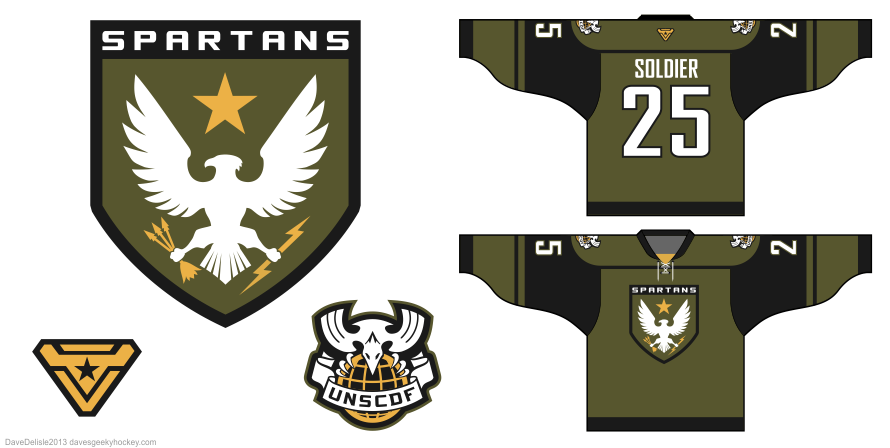 Halo UNSC Spartans hockey jersey by Dave Delisle