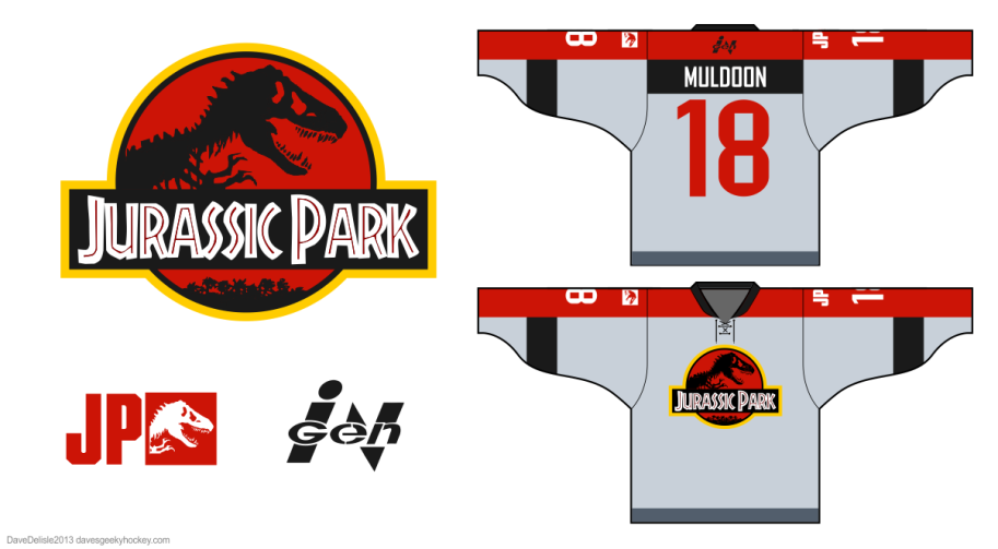 Jurassic Park hockey jersey by davesgeekyideas