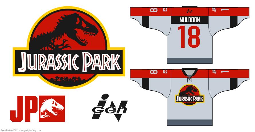 Jurassic Park hockey jersey by Dave Delisle