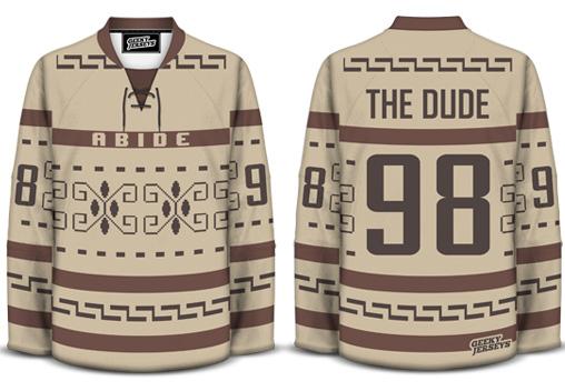 Lebowski Hockey Jersey Design The Dude by davesgeekyhockey
