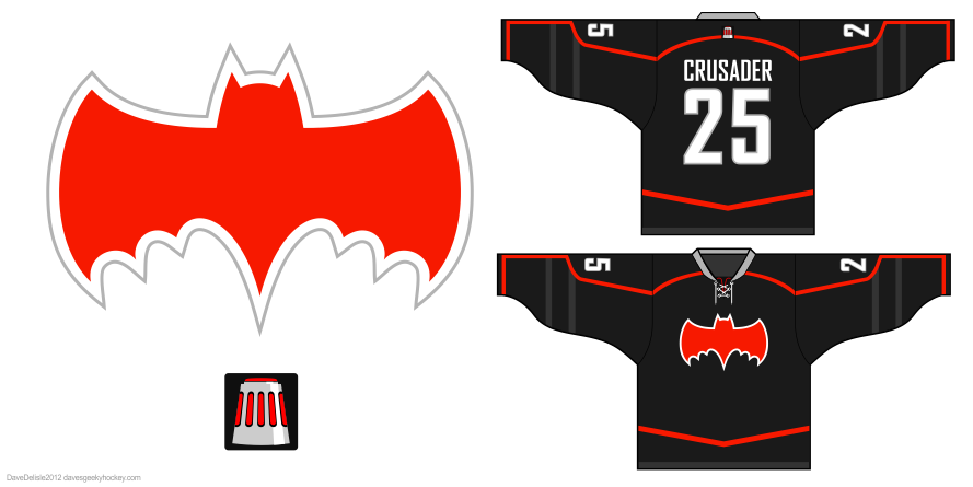 crusaders hockey jersey design by Dave Delisle