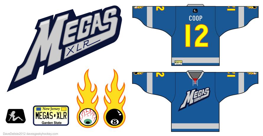 Megas XLR hockey jersey by Dave Delisle