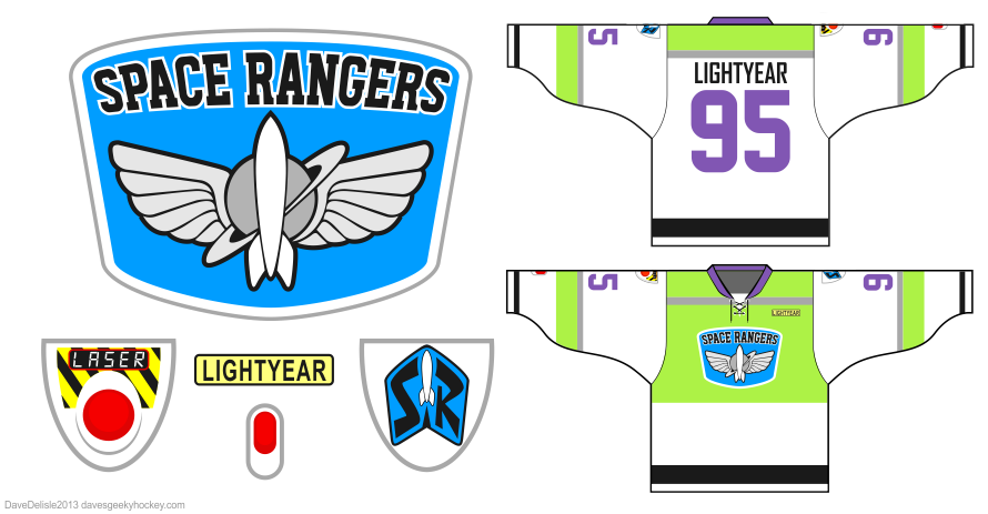 Buzz lightyear hockey jersey by dave delisle