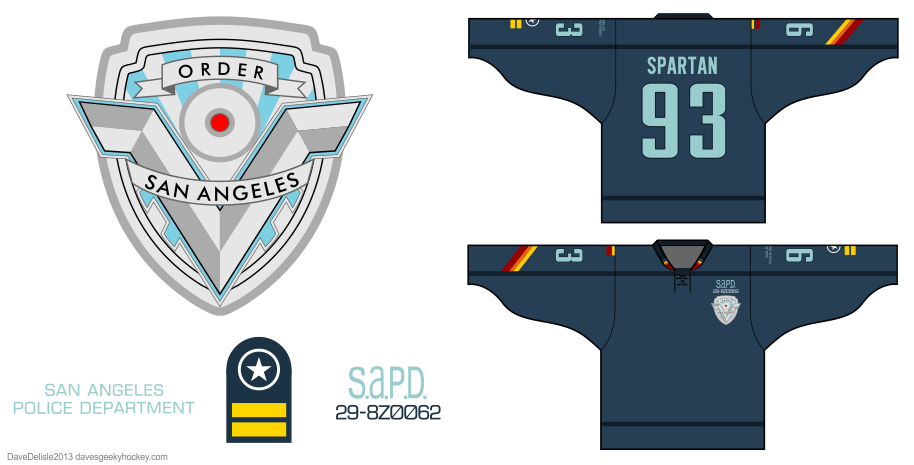 Demolition Man hockey jersey by Dave Delisle