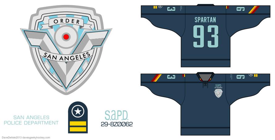 Demolition Man hockey jersey design by Dave Delisle