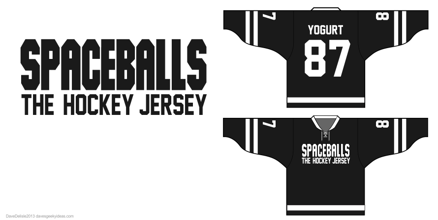 spaceballs the hockey jersey design