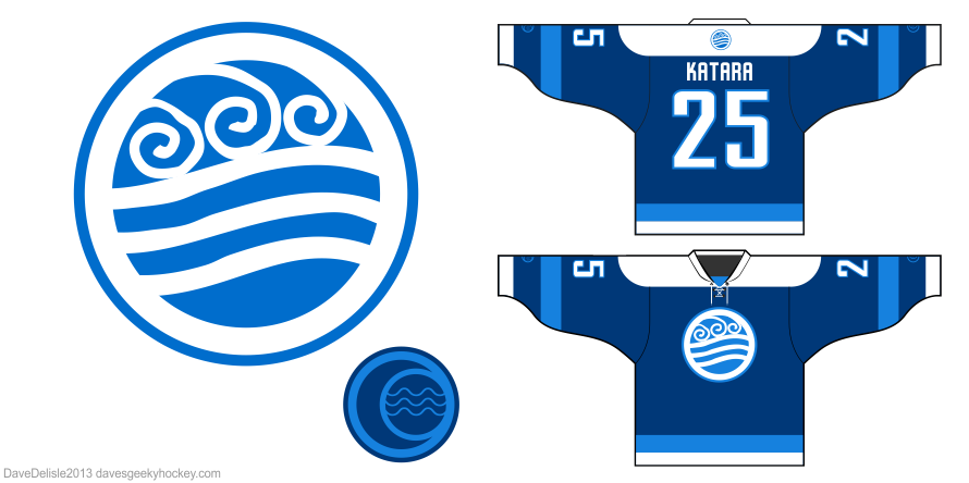 Avatar Last Airbender hockey jersey design by Dave Delisle