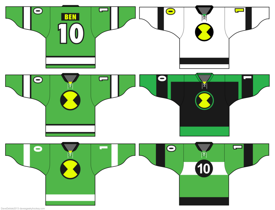 Ben 10 Hockey Jerseys