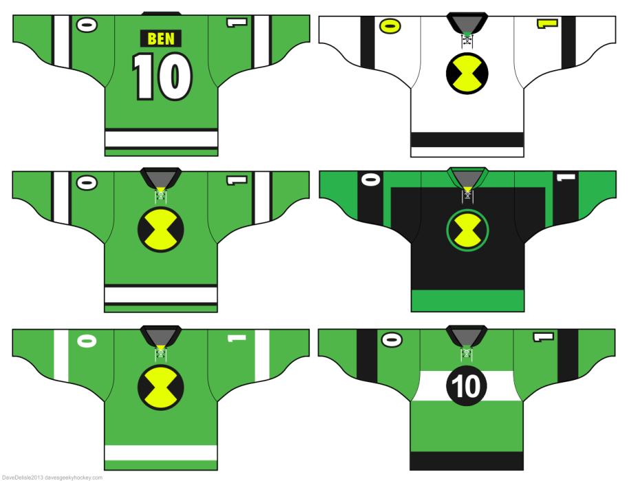 Ben 10 Hockey Jerseys