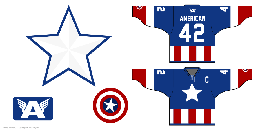 captain 2.0 hockey jersey by Dave Delisle