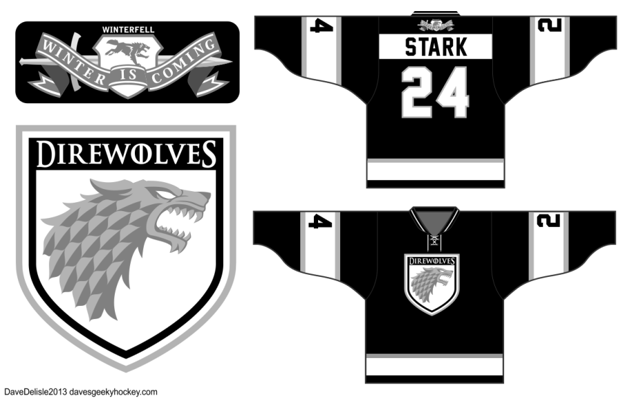House Stark Sigil Hockey Jersey