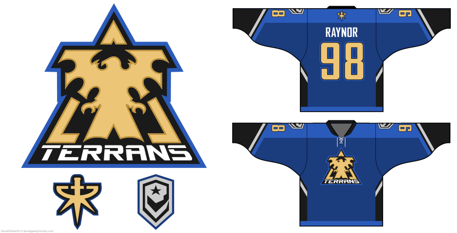 Starcraft Terran hockey jersey design by Dave Delisle