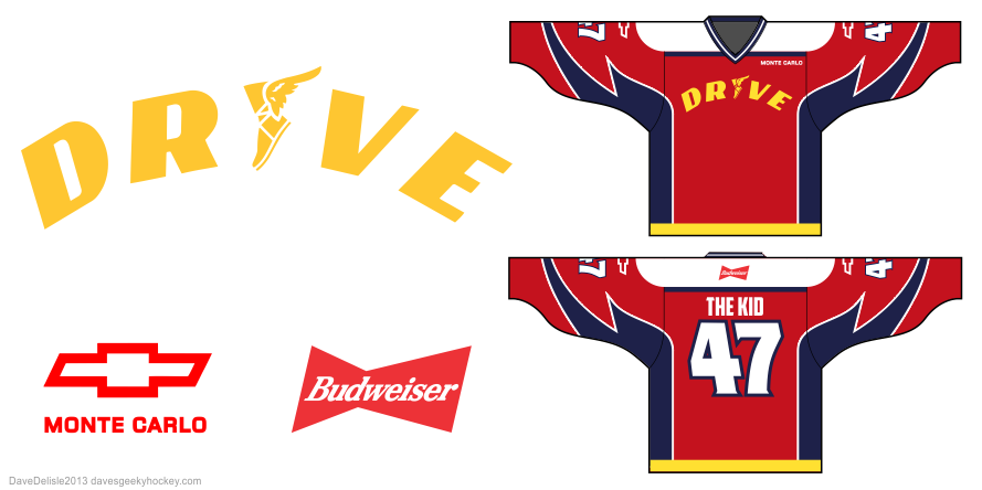 Drive Film hockey jersey design by Dave Delisle
