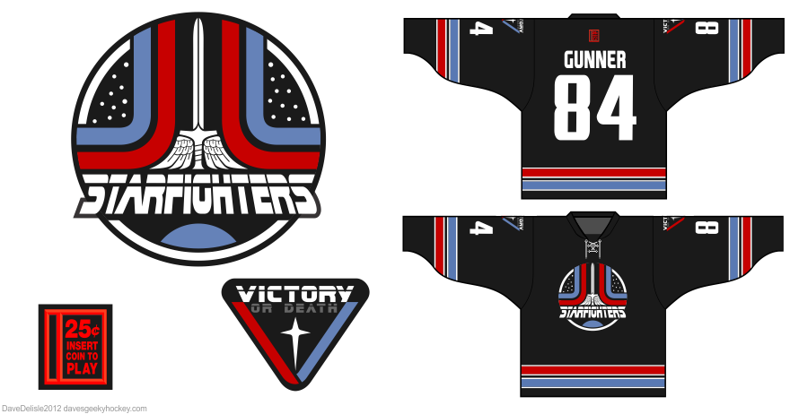 Last Starfighter Hockey Jersey design by Dave Delisle