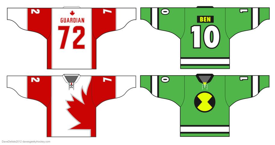 davesgeekyhockey.com Ben 10 jersey