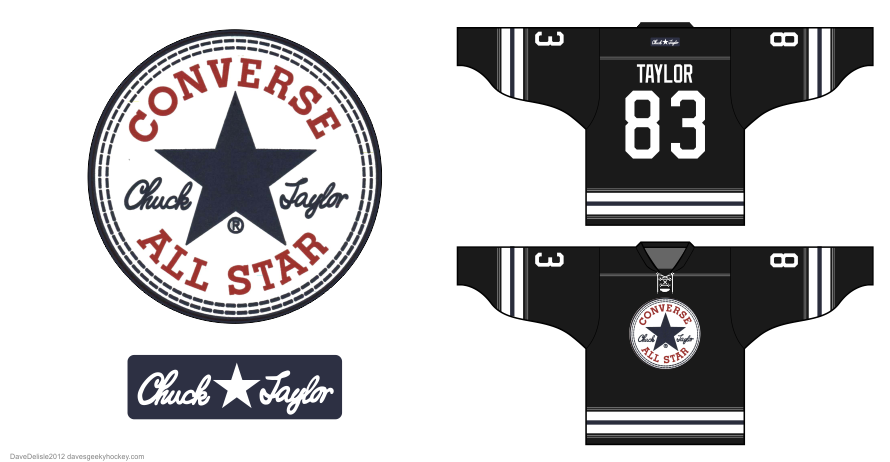 Converse hockey jersey design 2012 by Dave Delisle