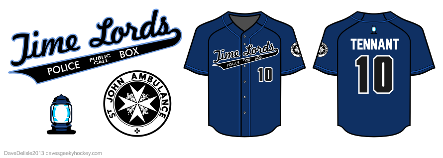 Time Lords baseball jersey design by Dave Delisle