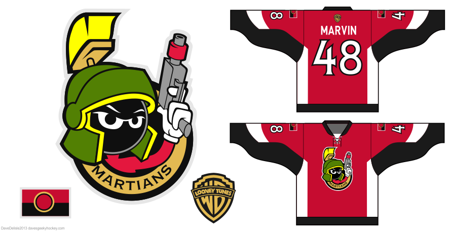marvin the martian hockey jersey by Dave Delisle