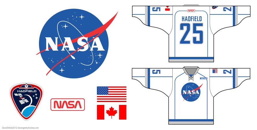 NASA hockey jersey design by Dave Delisle