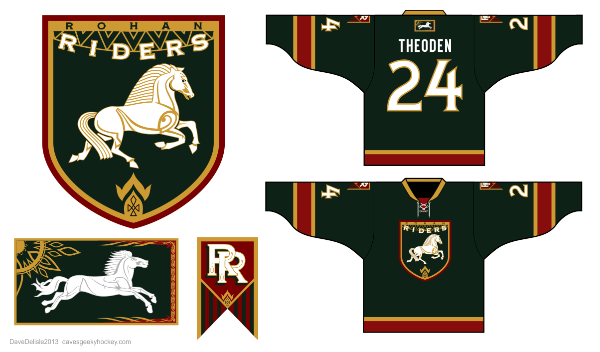 Lord of the rings dave 39 s geeky hockey for Rohan design
